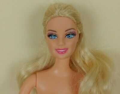 Mattel 1999 Ballerina BARBIE Doll Blond Hair Blue Eyes Pink Legs Attached Shoes