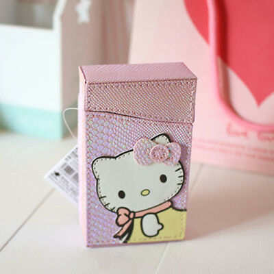 bea48767c Sanrio Hello Kitty Winter Scarf Pattern PU Cigarette Case Pink Girl Gift NWT