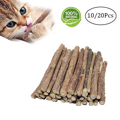 10pcs Cat Snacks Matatabi Chew Catnip Stick Teeth Cleaning Brush Toy