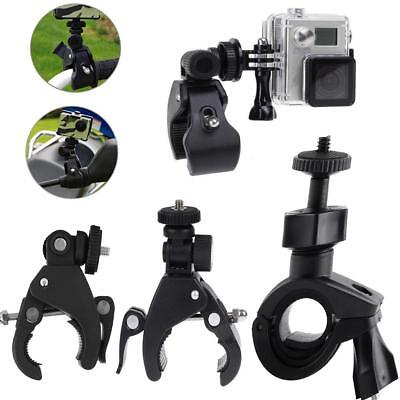 Bike Motorbike Handlebar Clamp Bracket Holder Mount fr Action Camera Gopro DV F3