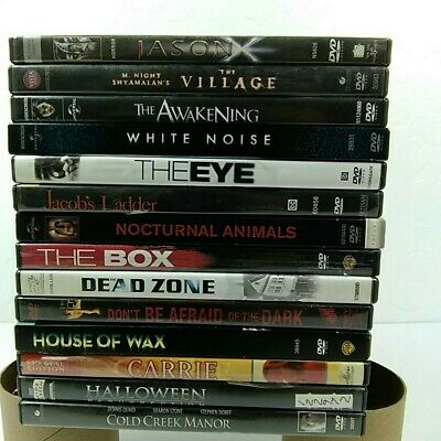 Horror Scary Suspense Thriller Psychological Nightmare  Lot of 14 DVDs Movies