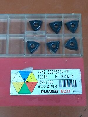 10pcs//Set WNMG080404 Carbide Insert Blade HRC45 Nano for Turning Tool Holder GL