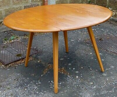Ercol Blonde Oval Drop Leaf Dining Table 384 (1952-c 1994)