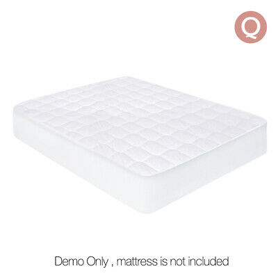 Fully Fitted Cotton Cover Quilted Bed Mattress Topper Underlay QUEEN @HOT