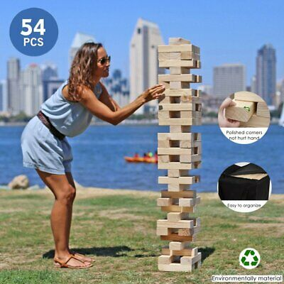 Portable Giant Wooden Toppling Tower Yard home Tumbling Timbers Camping Game Set