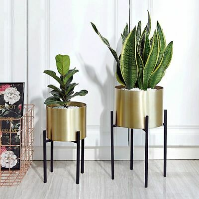Metal Flower Nursery Pot Large Iron Plant Stand For Home And Office Decorations