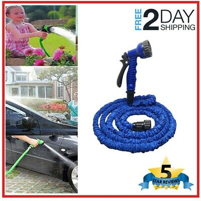 EXPANDABLE FLEXIBLE MAGIC Hose 50/100FT Water Pipe Spray