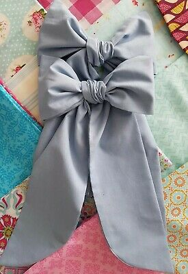 Curtain Tie Back Bows Shabby Chic French Chic 1 pair choice of colours Handmade