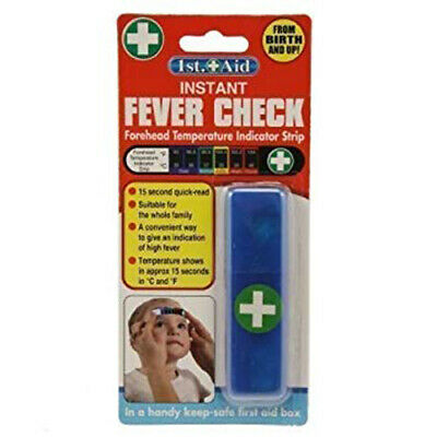 1st Aid Instant Fever Check Strip Temperature Check 0+ 15 Second Quick Read Kids
