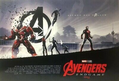 2019 AVENGERS ENDGAME 11x15.5 IMAX movie POSTER + Spider-Man: Far From Home