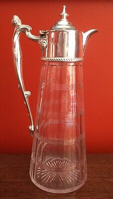 Victorian Silver Pjated Claret Jug By Mappin Bros c1880