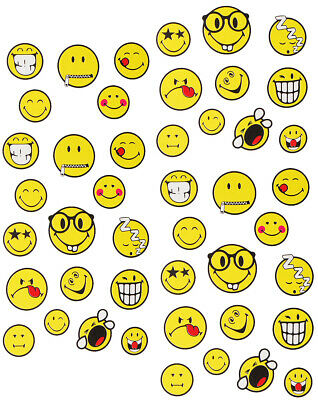 "Set: Aufkleber / Sticker - "" gelbe Smiley World - Smiley - Smile Emotion "" - sel"