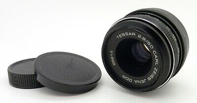 Vintage Carl Zeiss Tessar 50mm F2.8 DDR M42 Mount Lens #4281
