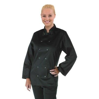 Whites Vegas Unisex Chef Jacket Long Sleeve Black -S [A438-S]