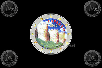 SPANIEN / SPAIN 2 EURO 2019 ( AVILA OLD TOWN ) Gedenkmünze FARBE / COLOUR #G2