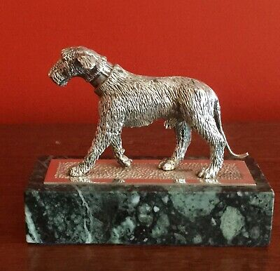 Rare Cast Solid Silver Irish Wolfhound London 1987