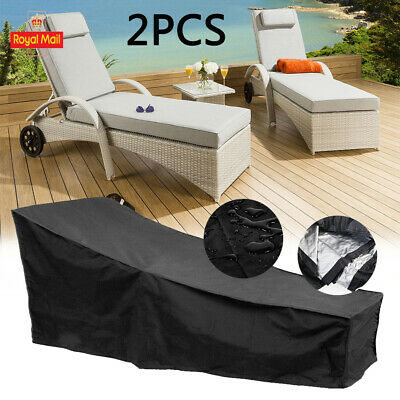 Dust Cover Heavy Duty Dust-proof For Patio Garden Sun Lounger Sunbed Protection