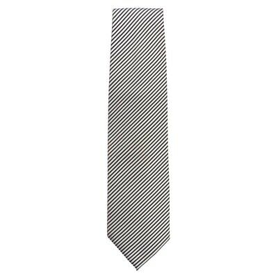 Chef Works Tie Silver and Black Fine Stripe [A886]