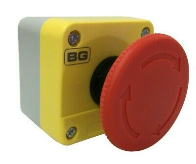 Waterproof Red Mushroom Cap Emergency Stop Sign Push Button Switch Station IP65
