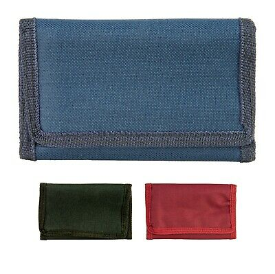 New Mens Boys Guys Canvas Lorenz Trifold Sports Money Cash Wallet Red Blue Black