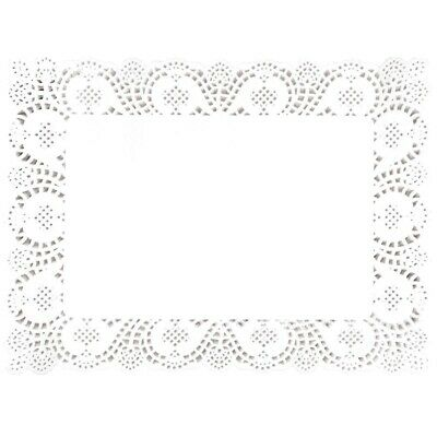 Fiesta Rectangular Paper Doilies 400mm (Set of 250) [CE994]