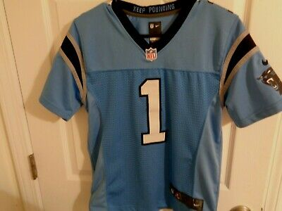 meet 362e7 391fe NIKE NFL YOUTH Carolina Panthers Cam Newton Jersey NWT $75 S ...