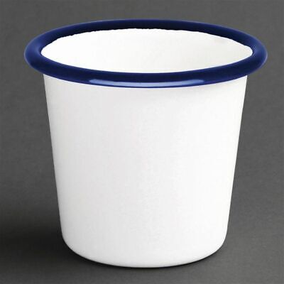 Olympia Enamel Sauce Cup White and Blue (Set of 6) [DC383]