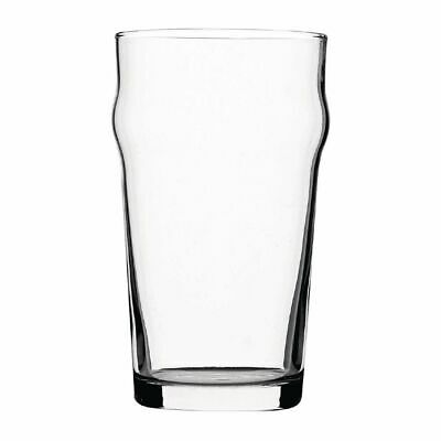Utopia Nonic Nucleated Beer Glasses 570ml CE Marked (Set of 48) [DB555]
