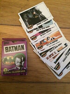 Topps Batman Set B 1989