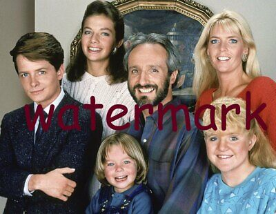 Family Ties 80'S Tv Show Cast Full Family Group Smiling Headshot Publicity Photo