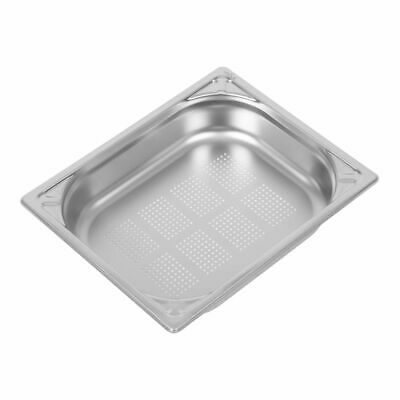 Vogue Heavy Duty Stainless Steel Perforated 1/2 Gastronorm Pan 65mm [DY179]