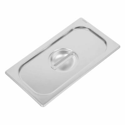 Vogue Heavy Duty Stainless Steel 1/3 Gastronorm Pan Lid [DW457]