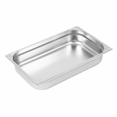 Vogue Heavy Duty Stainless Steel 1/1 Gastronorm Pan 100mm [DW434]