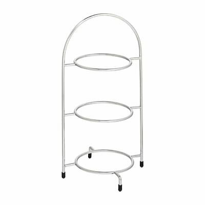 Utopia Chrome Three Tier Cake Stand 200mm [DY296]