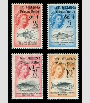 St Helena - Tristan Relief Fund Set. Fresh Unmounted Mint/MNH. Cert. Swap maybe?