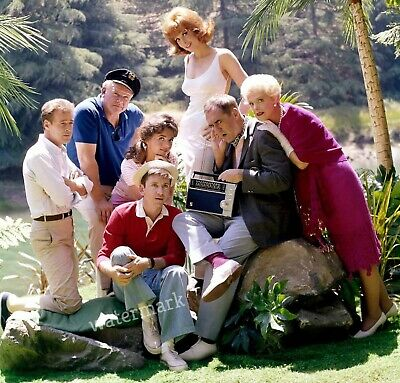 Gilligan's Island Tv Show Full Cast Together Listening To Radio Publicity Photo