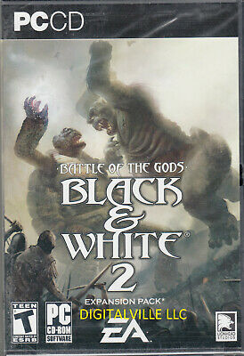Black & White 2 Battle of the Gods Expansion Pack PC Brand New Factory Sealed
