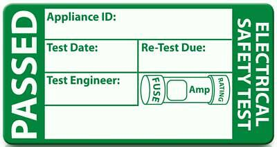 PAT Test Testing Labels PASS & FAIL Labels - quantities 50 to 5000