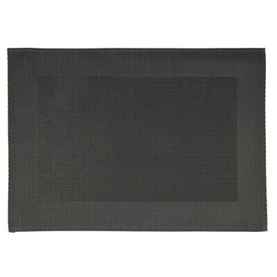 APS PVC Placemat Fine Band Frame Black (Set of 6) [GL610]