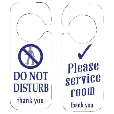 Do Not Disturb and Please Service Room Sign (Set of 10) [W346]
