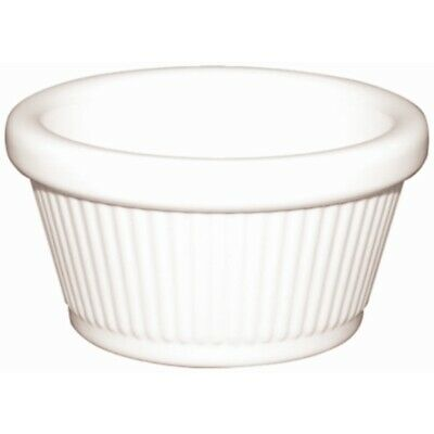 Kristallon Melamine Fluted Ramekins White 76mm (Set of 12) [T814]