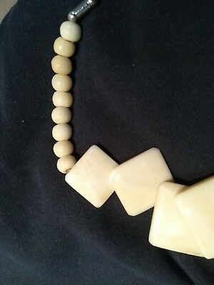 Antique Chinese Bovine Bone Necklace Mint Condition