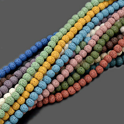 """Natural Rock Lava Gemstone Round Spacer Loose Beads 15.5"""" 6mm 8mm 10mm 12mm 14mm"""