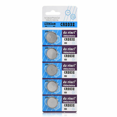 5PCS CR2032 3V Alkaline Batteries Button Cell Coin Battery For Watch Toys Remote
