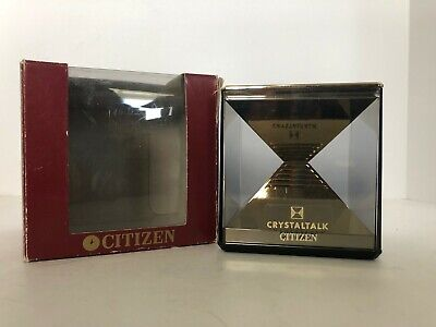 "Citizen ""Crystal"" Time Talking Alarm Clock, Female Voice, Box (GUC)"
