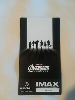 Marvel AVENGERS ENDGAME  Week 2 Collectible Regal IMAX Ticket #1 out of 1000