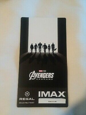Marvel AVENGERS ENDGAME  Week 2 Collectible Regal IMAX Ticket #4 out of 1000