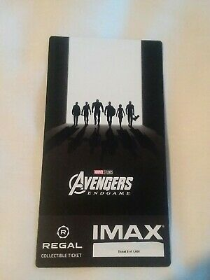 Marvel AVENGERS ENDGAME  Week 2 Collectible Regal IMAX Ticket #5 out of 1000