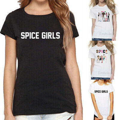 New Womens Vintage Spice Girls T-Shirt 2019 Ladies Tour Concert Baggy Tee Top