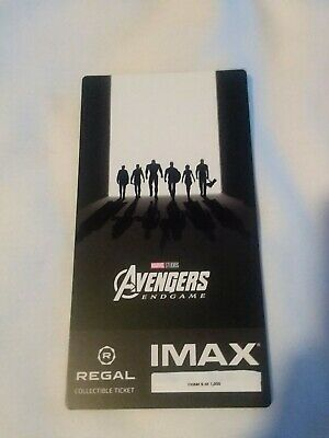 Marvel AVENGERS ENDGAME  Week 2 Collectible Regal IMAX Ticket #6 out of 1000